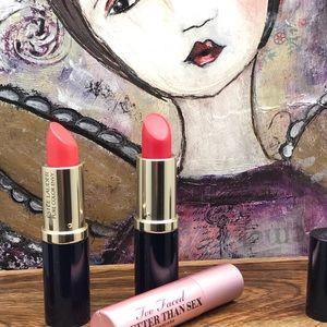 Estée Lauder lipstick bundle and Too Faced Mascara